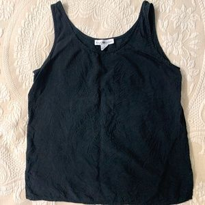 Black silk sleeveless top - Real Clothes by Saks